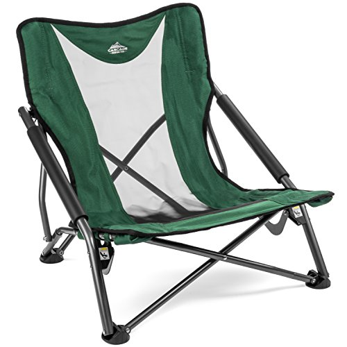 Cascade Mountain Tech Compact Low Profile Outdoor Folding Camp Chair.