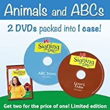 Signing Time Leah's Farm and ABC Signs DVD Set: 2-in-1 DVD Pack