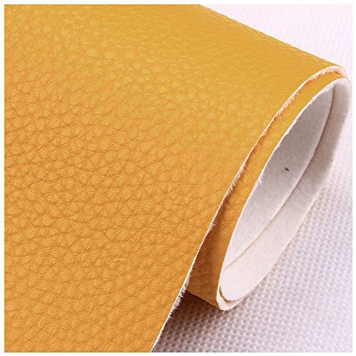 NAKAN Color Sólido Tela de Piel Sintética de PU con Patrón Litchi 100x138 Cm Vinilo Tela de Polipiel para Tapizar Coser, Proyectos de Manualidades, Muebles(Color:29)