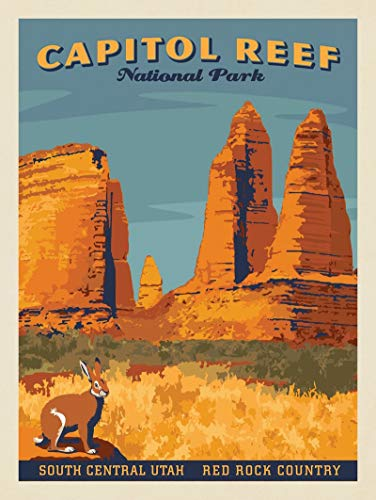 SANTANNA Natural Landscapes Poster, US National Park Art Print, Vintage Travel Posters, Bundle Set of Up to 3, Wall Art for Home Office Decor, Design 3 Collection 1