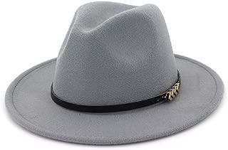XinLin Du Men Women Wool Fedora Hat Wide Brim Church Hat Casual Hat Fascinator Jazz Hat Size 56-58CM
