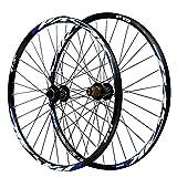 27,5 Pulgadas Bicicleta Rueda,Pared Doble Aleación de Aluminio Frenos de Disco Liberación Rápida 7/8/9/10/11 Velocidad Ruedas de Bicicleta (Color : Blue, Size : 27.5in)