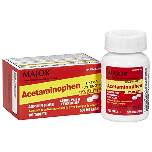 Major Acetaminophen 500mg Extra Strength Tablets 100CT