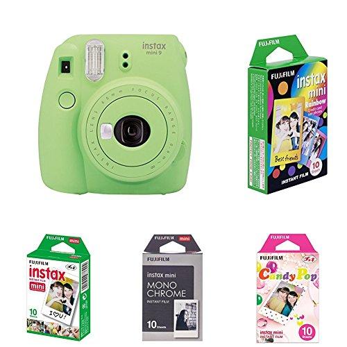 Fujifilm Instax Mini 9 Kamera, lime grün mit Film Box