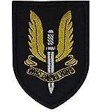 Cobra Tactical Solutions SAS Who Dares Wins Parche Bordado Táctico Moral Militar con Cinta adherente de Airsoft Paintball para Ropa de Mochila táctica