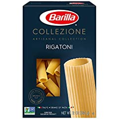 Barilla Collezione Rigatoni is a bronze cut pasta providing a homemade texture Rigatoni is a classic Italian pasta shape, in the shape of large, ridged, tube The rigatoni shape of pasta perfectly captures chunky meat or vegetable sauces Barilla Colli...