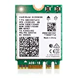 WiFi 6 AX200 802.11AX WiFi Card | Dual Band Max 3000Mbps with Bluetooth 5.1 | WiFi Module 2 x 2 MU-MIMO M.2/NGFF 2230 | Wireless Module for Laptop Desktop Windows 10, 64-bit