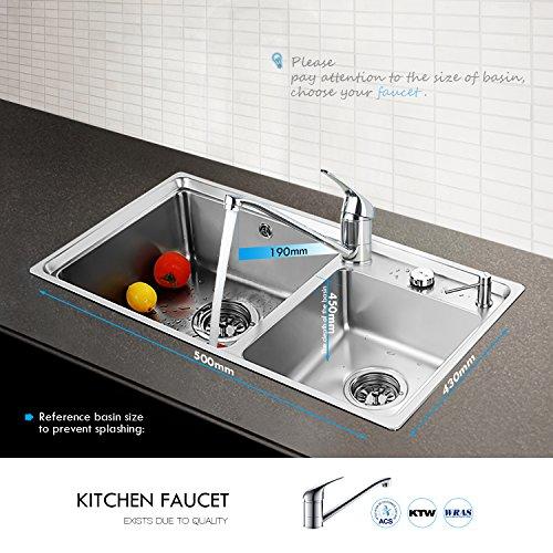 Auralum® Einhebel Spültisch Armatur Mischbatterie Wasserhahn Klasisch Design - 5