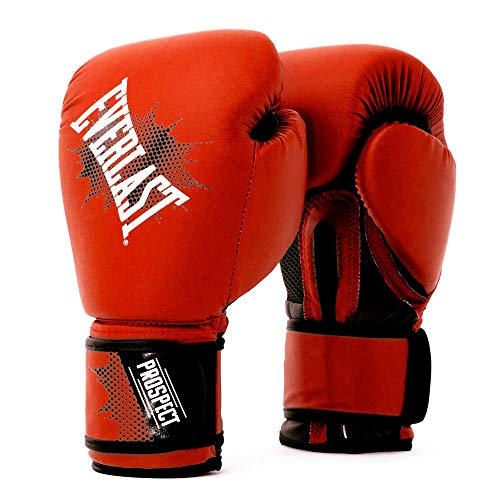 EVERLAST Prospect - Guantoni da boxe per bambini, colore: rosso/nero