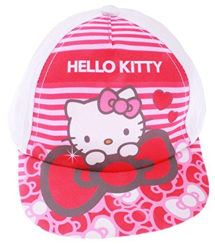 Hello Kitty - Sombrero - para bebé niña Rojo Blanc/Rose