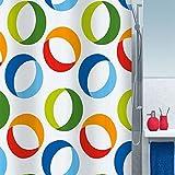 YROAR Wc im europäischen Stil ring gepolsterte Polyester wasserdicht Schimmel am Duschvorhang Duschvorhang Duschvorhang, 200x180 cm