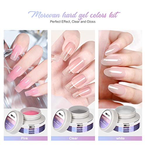Clear pink gel nails _image3