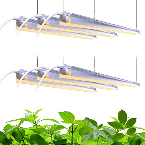 Barrina Plant Grow Light, 252W(6 x 42W, 1400W Equivalent), Full Spectrum, LED Grow Light Strips, T8 Integrated Growing Lamp Fixture, Grow Shop Light, with ON/Off Switch, 6-Pack …