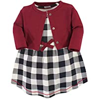 Touched by Nature Baby Girls' Organic Cotton Dress and Cardigan