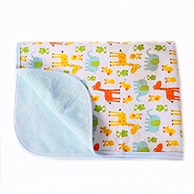 Portable Changing Pad Waterproof Diaper Change Mat Large Size Multi-Function [Home & Travel] Mat Any Places Bed Play Stroller Crib Car Mattress Pad Cover (Frog & Giraffe, XL (27.56 x 47.2 Inch)