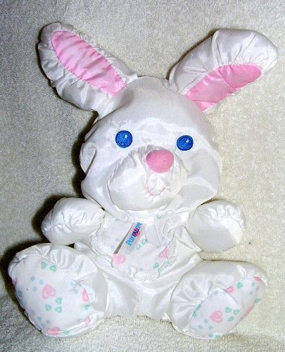 Vintage 1994 Puffalumps 11' White Bunny Rabbit Puffalump Pets