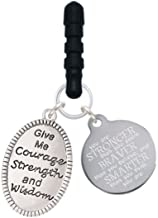 Delight Jewelry Give Me Courage Strength Wisdom Medallion Stronger Braver Smarter Phone Charm