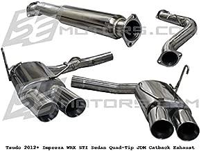 Tsudo 2012 + Impreza WRX STI Sedan 3in Quad-Tip JDM Catback Exhaust