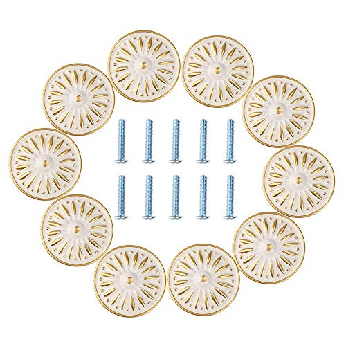 Ivory Ceramic Knobs - 7