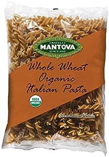 Mantova Italian Organic Whole Wheat Spirali Pasta - 100% Durum Semolina Organic Whole Wheat Spirali - 16 Oz (Pack Of 12) - Product Of Italy
