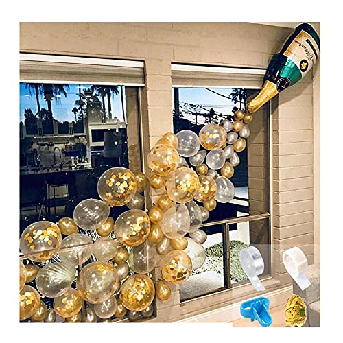 Champagne Bottle Balloons Party Decorations, Confetti Birthday Balloon Arch Garland, for Bachelor Party, Engagement, Wedding Celebration, Baby Shower, Graduation, Christmas A 45PCS