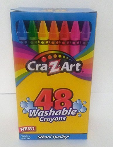 Cra-Z-Art 48 Washable Crayons Brightert Colors School Quality