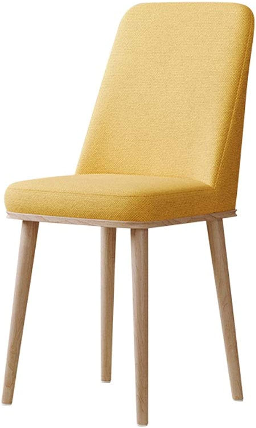 A+ Stylish and Simple Dining Table and Chairs, Casual Armrestless Backrest, Nordic Home PU Leather Soft Cushion Cushion Bar Chair - 45cmX45cmX93cm (color   Yellow)