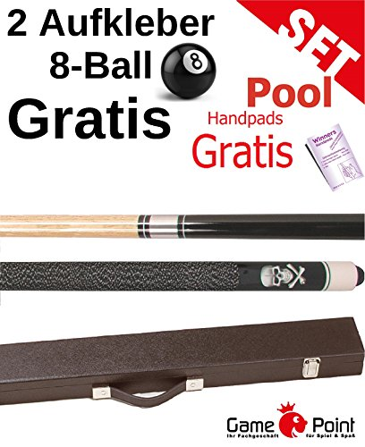 Billard-Queue Black Death + Koffer Standard schwarz in 2 Ausführungen