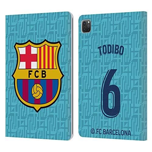 Head Case Designs Oficial FC Barcelona Jean-Chair Todibo 2019/20 Jugadores Tercer Kit Grupo 2 Carcasa de Cuero Tipo Libro Compatible con Apple iPad Pro 11 (2020)