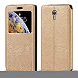 Lenovo Zuk Z1 Case, Wood Grain Leather Case with Card