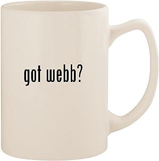 got webb? - White 14oz Ceramic Statesman Coffee Mug Cup