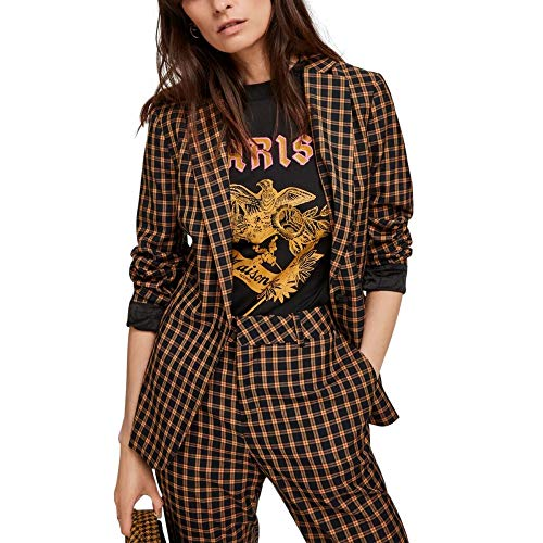 Scotch & Soda Maison Classic Tailored Blazer Chaqueta de Traje, (Combo Orbit 0597), 44 (Talla del Fabricante: X-Large) para Mujer