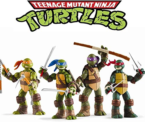 Ninja Turtles 4 PCS Set (5 Inches) Teenage Mutant Turtles Action Figures Ninja Turtles Toyset - Ninja Turtles Action Figures Mutant Teenage Set