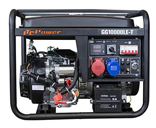 ITCPower IT-GG10000LET Generador gasolina Fullpower, negro