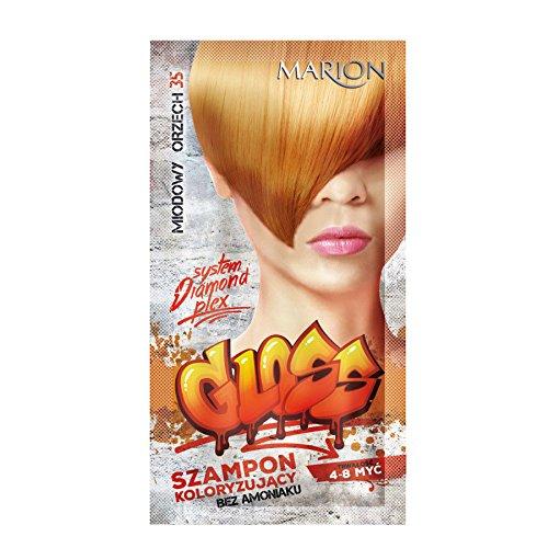 Marion - Champú de color brillante para el cabello en bolsitas de 4 a 8 lavados Amonia FREE 35 de madera de nogal