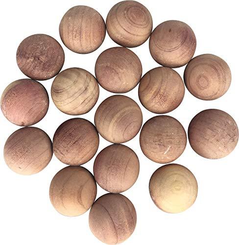 M-Home | Lot de 18 Billes Antimites | Bois | Cèdre Rouge | 18 billes | ANTIMITE BALL | CED17817
