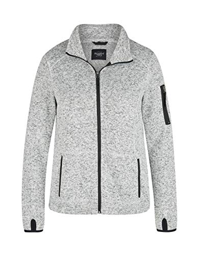 Bexleys Woman by Adler Mode Damen Strick-Fleece-Jacke grau-Melange 44