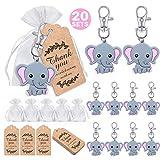 iZoeL 20 llavero elefante bautizo regalos...
