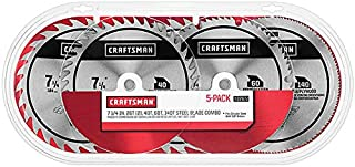 Craftsman 7 1/4 in. Steel Blade Variety 5 Pack 26T (2), 40T, 60T, 140T