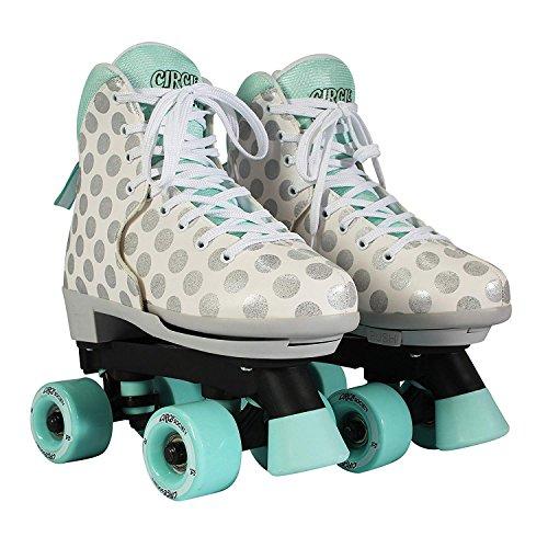 Circle Society CRAZE Roller Quad Skates - Paar - Verstelbare grootte bereik - Sugar Drops (UK 2-6 / EU 34-39 / US 3-7)