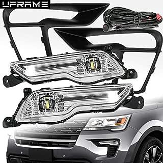 UFRAME (UPGRADED) Built-in LED Fog light Kit Fits 2018 2019 Ford Explorer Base/XLT/Limited/Sport/Platinum