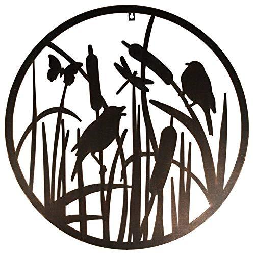 L'Héritier Du Temps wandlamp Fronton stijl levensboom vlinders vogels riet metaal 1,5 x 60 cm