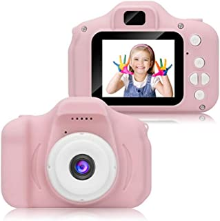 YUNSYE HD 1080P Kids Camera Children Digital Video Cameras for Girls Birthday Toy Gifts 4-12 Year Old Kid Action Camera wi...