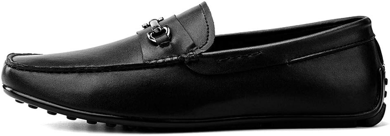 L.W.SURL Retro New Men's Men's Echtes Leder Casual Slipper Loafer Schuhe Mokassins Driving Schuhe Leicht  100% versandkostenfrei