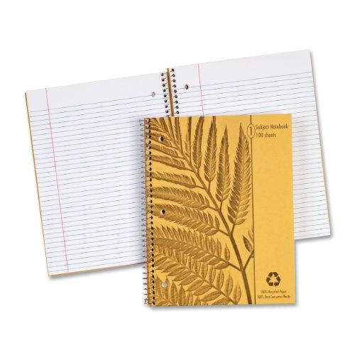 Ampad Caderno de 1 tema Envirotec, pautado pela faculdade com linha de margem, tamanho 21 x 28 cm, papel branco com capa gráfica à esquerda, 100 folhas por caderno (40103)