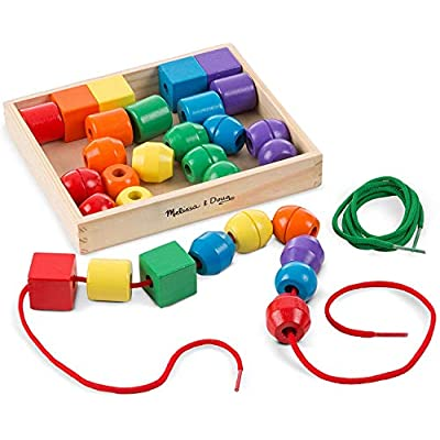 Wooden Lacing Beads Animals Stringing Box Threading Educational Toy JD