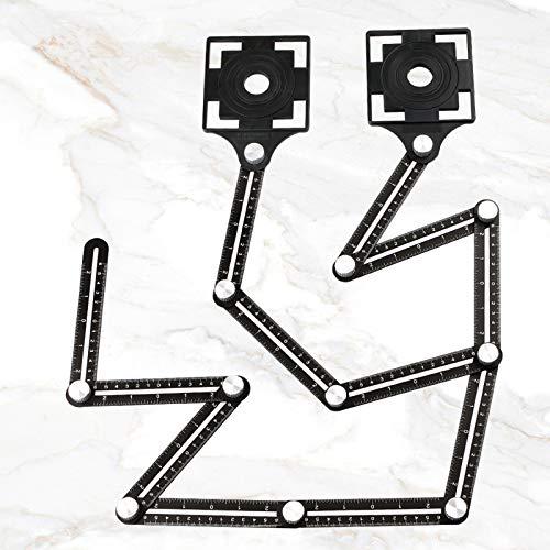 Regla de Medición Herramienta de Plantilla, ángulos múltiples Ángulos Herramienta de Plantilla de Aleación de Aluminio 12 regla plegable, Para Bricolaje Manitas Constructores, Carpinteros
