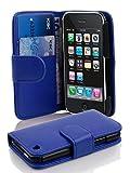 Cadorabo Coque pour Apple iPhone 3 / 3S / 3GS Bleu CÉLESTE Housse de Protection Etui Portefeuille Case Cover pour iPhone 3 / 3S / 3GS – Stand Horizontal et Fente pour Carte