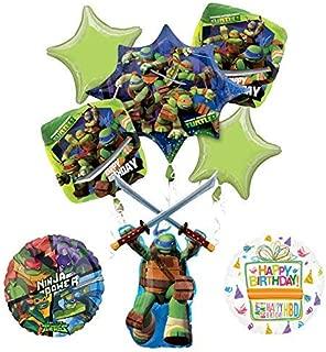 Mayflower Products Teenage Mutant Ninja Turtles Birthday Party Supplies TMNT Leonardo Balloon Bouquet Decorations