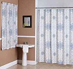 11 Matching Shower And Window Curtains Sets for Your Bathroom